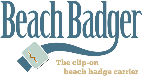 Beach Badger: the clip-on beach badge carrier